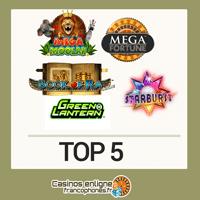 Top 5 slots pour vous divertir
